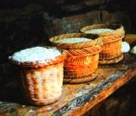 Mesithra is a sort of curd made of sheep's milk in a basket, just like 'brocciu' of Corsica