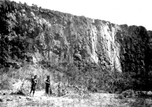 Mabel Bent's photograph of Abyssapolis, Dhofar. From Theodore Bent's 1894 paper for the Royal Geographical Society. Image © The Bent Archive