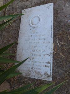 The childern's grave of John and Helene Wilkinson