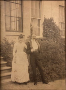 Paton and Irini at Rattray, his cousin's home North of Aberdeen